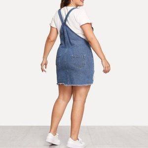 Love & Legend overall denim dress plus size 24US